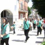 La banda di Borbona durante la processione - Vallemare di Borbona 2010